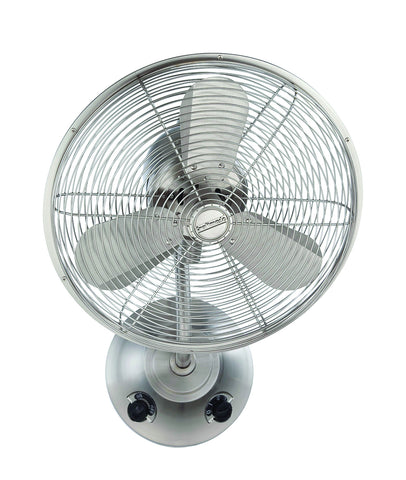 "Craftmade BW116BNK3 16"" Oscillating Wall Fan - Bellows I in Stainless Steel"
