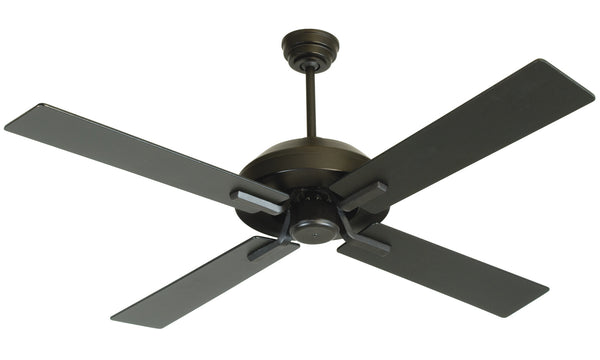 "Craftmade - SB52FB4 - 52"" Ceiling Fan with Blades Included - South Beach - Flat Black"