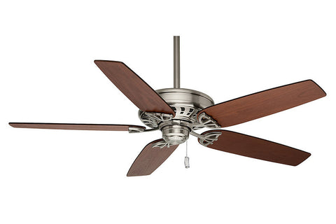 "Casablanca 54021 54"" Concentra in Brushed Nickel with Walnut Blades"