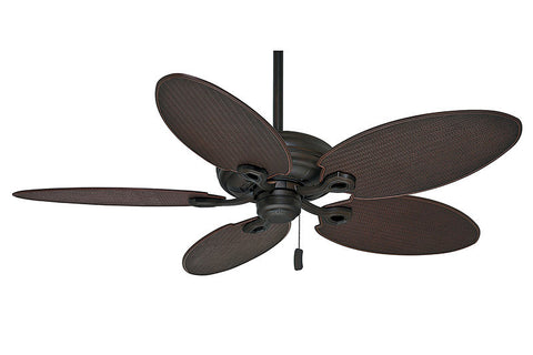 Casablanca Charthouse 55010 in Maiden Bronze - Shown with Plantation Wicker Blades (Sold Separately).