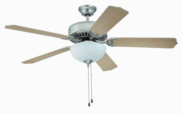 "Craftmade - C201BN - 52"" Ceiling Fan - Blades Sold Separately - Pro Builder 201 - Brushed Satin Nickel"