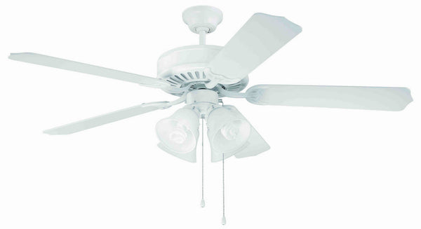 "Craftmade - C203W - 52"" Ceiling Fan - Blades Sold Separately - Pro Builder 203 - White"