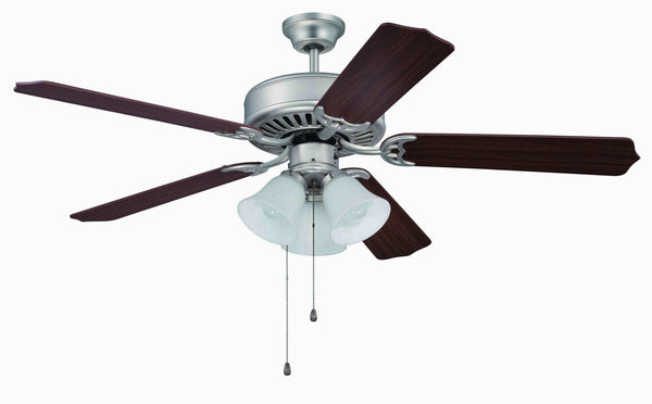"Craftmade - C205BN - 52"" Ceiling Fan - Blades Sold Separately - Pro Builder 205 - Brushed Satin Nickel"