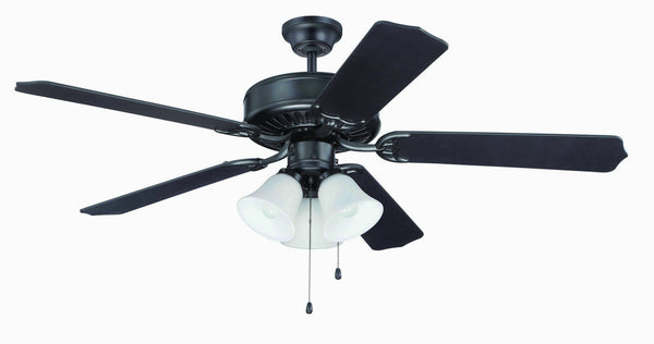 "Craftmade - C205FB - 52"" Ceiling Fan - Blades Sold Separately - Pro Builder 205 - Flat Black"