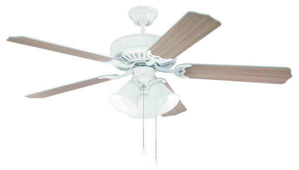 "Craftmade - C205W - 52"" Ceiling Fan - Blades Sold Separately - Pro Builder 205 - White"