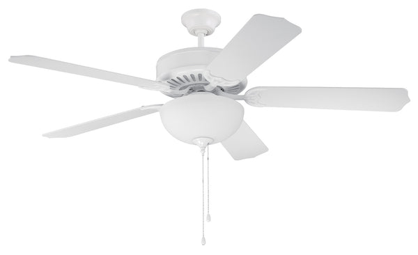 "Craftmade - C207W - 52"" Ceiling Fan - Blades Sold Separately - Pro Builder 207 - White"
