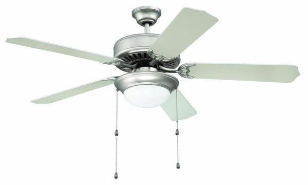 "Craftmade - C209BN - 52"" Ceiling Fan - Blades Sold Separately - Pro Builder 209 - Brushed Satin Nickel"