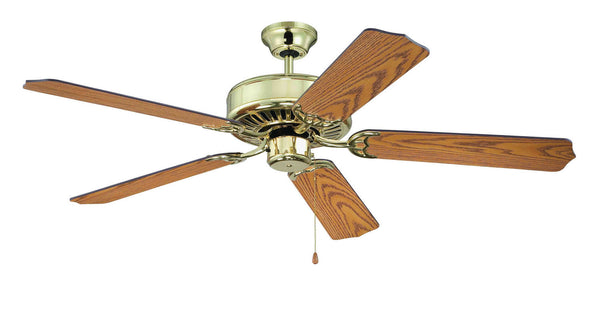 "Craftmade - C52PB - 52"" Ceiling Fan - Blades Sold Separately - Pro Builder - Polished Brass"