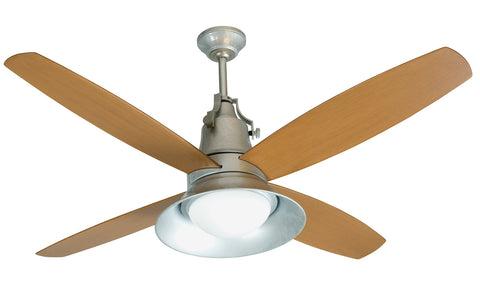 "Craftmade Union UN52GV4 52"" Ceiling Fan with Blades Included in Galvanized"