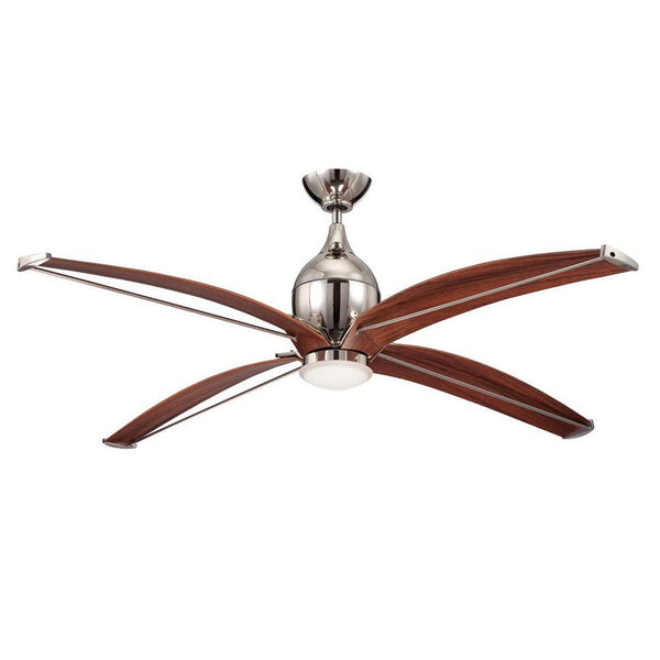 "Craftmade - TRD60PLN4 - 60"" Ceiling Fan with Blades Included - Tyrod - Polished Nickel"