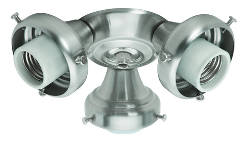 Hunter 99136 Three-Light Brushed Nickel Fitter