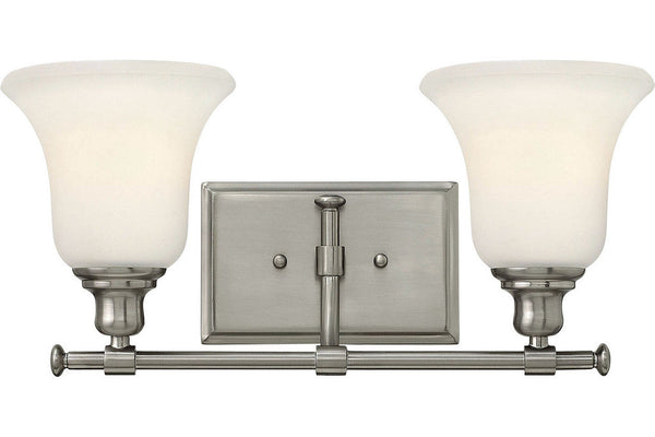Hinkley 58782BN Colette Glass Wall Vanity Lighting in Brushed Nickel with Etched Semi-Opal Glass