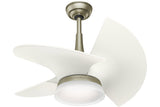 "Casablanca Orchid - 30"" Ceiling Fan in Pewter Revival / Architectural White - 4 speed wall control included"