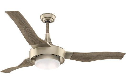 "Casablanca Perseus - 64"" Ceiling Fan in  Sunsand / Drift Oak - 4 speed wall control included"