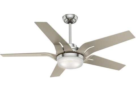 "Casablanca Correne - 56"" Ceiling Fan in  Brushed Nickel / Champagne - 4 speed handheld remote control included"