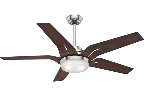 "Casablanca Correne - 56"" Ceiling Fan in  Brushed Nickel /Coffee Beech - 4 speed handheld remote control included"