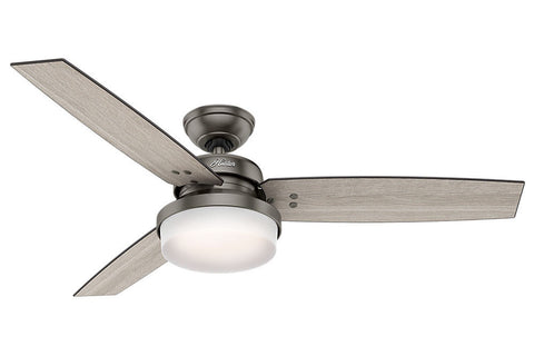 "Hunter Sentinel - 52"" Ceiling Fan in Brushed Slate"