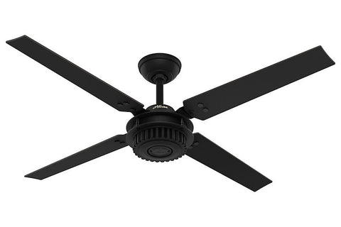 "Hunter Chronicle - 54"" Ceiling Fan in Satin Black"