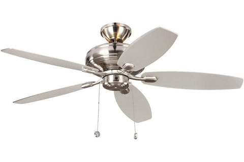 "Monte Carlo 5CQM52BS-L 52"" Centro Max Uplight Ceiling Fan in Brushed Steel"