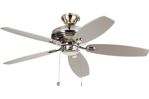 "Monte Carlo 5CQM52PN-L 52"" Centro Max Uplight Ceiling Fan in Polished Nickel"