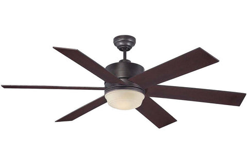 "Savoy House 60-820-613-13 60"" Velocity in English Bronze with English Bronze Blades Damp Rated Outdoor Ceiling Fan"