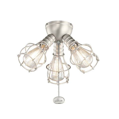Kichler - 370041NI - Three Light Fan Light Kit - Accessory - Brushed Nickel