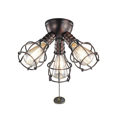 Kichler - 370041OBB - Three Light Fan Light Kit - Accessory - Oil Brushed Bronze
