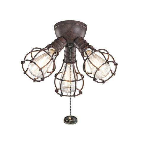 Kichler - 370041TZ - Three Light Fan Light Kit - Accessory - Tannery Bronze
