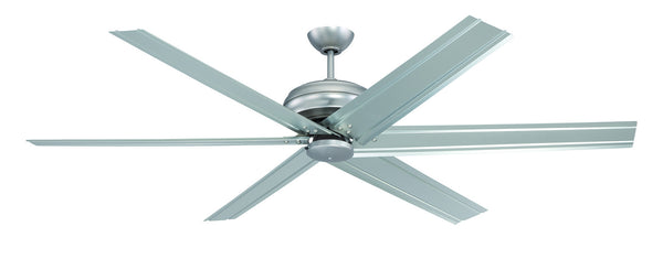 Craftmade - COL72BP6 - 72`` Ceiling Fan with Blades Included - Colossus - Brushed Pewter
