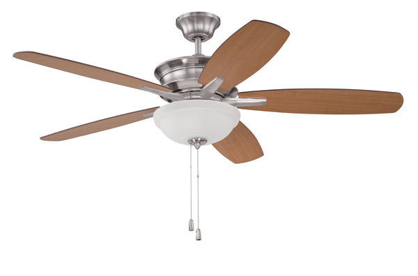 "Craftmade - PNB52BNK5 - 52"" Ceiling Fan with Blades Included - Penbrooke - Brushed Polished Nickel"