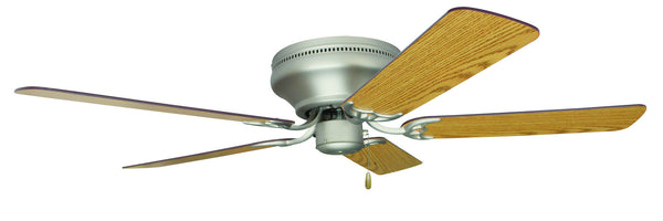 "Craftmade - PFC52BN - 52"" Ceiling Fan - Blades Sold Separately - Pro Contemporary Flushmount - Brushed Satin Nickel"