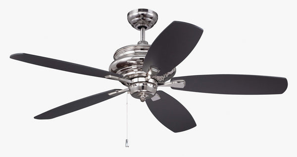 "Craftmade - YOR52PLN5 - 52"" Ceiling Fan with Blades Included - Yorktown - Polished Nickel"