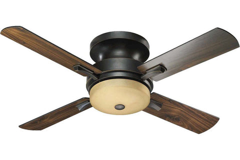 "Quorum 65524-95 52"" Davenport in Old World with Reversible Old World and Walnut Blades Indoor Rated Ceiling Fan"