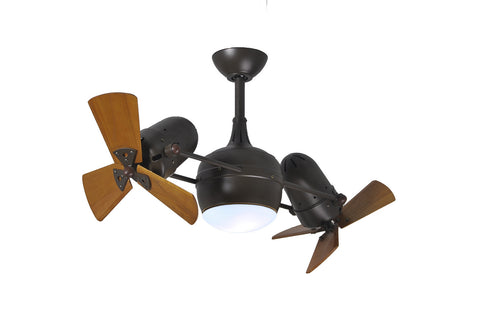 "Matthews Fan Co DGLK-TB-WD 41"" Dagny in Textured Bronze with Solid Wood Blades"