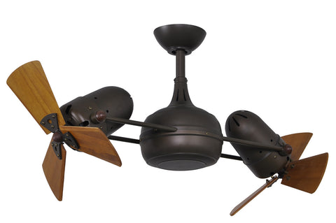 "Matthews Fan Co DG-TB-WD 41"" Dagny in Textured Bronze with Solid Wood Blades"