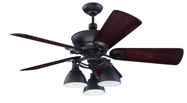"Craftmade - K11066 - 54"" Ceiling Fan Motor with Blades Included - Timarron - Aged Bronze Brushed"