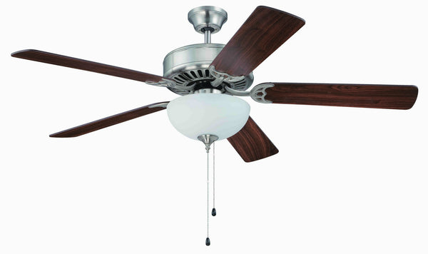 "Craftmade - K11102 - 52"" Ceiling Fan Motor with Blades Included - Pro Builder 201 - Brushed Polished Nickel"