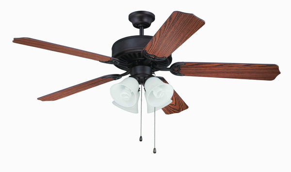 "Craftmade - K11106 - 52"" Ceiling Fan Motor with Blades Included - Pro Builder 203 - Aged Bronze Brushed"