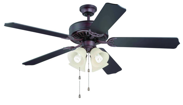 "Craftmade - K11110 - 52"" Ceiling Fan Motor with Blades Included - Pro Builder 204 - Oiled Bronze"