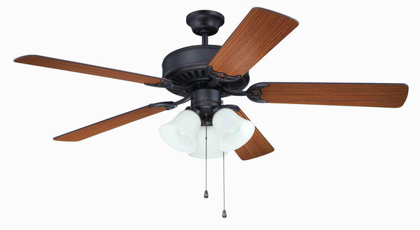 "Craftmade - K11111 - 52"" Ceiling Fan Motor with Blades Included - Pro Builder 205 - Aged Bronze Brushed"