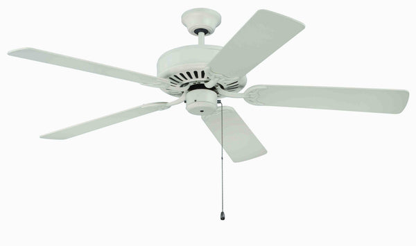 "Craftmade - K11133 - 52"" Ceiling Fan Motor with Blades Included - Pro Builder - Antique White"
