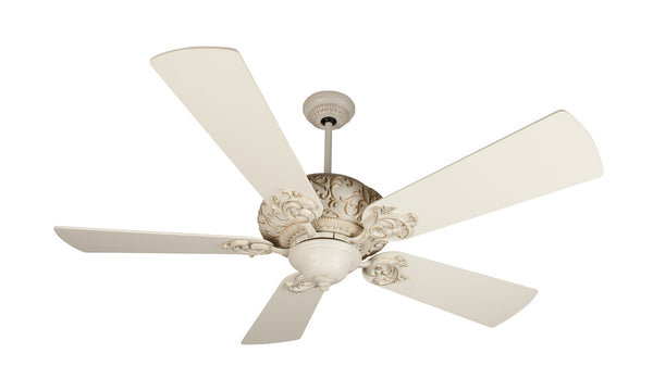 "Craftmade - K11151 - 52"" Ceiling Fan Motor with Blades Included - Ophelia - Antique White Distressed"
