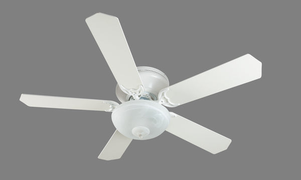 "Craftmade - K11165 - 52"" Ceiling Fan Motor with Blades Included - Pro Contemporary Flushmount - White"