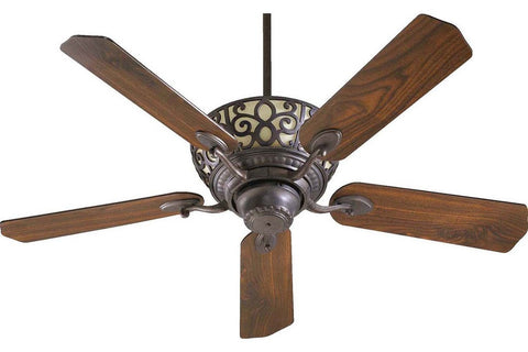 "Quorum 69525-44 52"" Cimarron in Toasted Sienna with Reversible Toasted Sienna and Walnut Blades Indoor Rated Ceiling Fan"