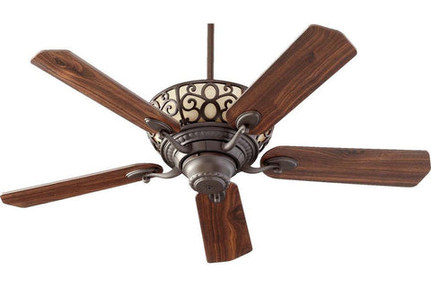 "Quorum 69525-86 52"" Cimarron in Oiled Bronze with Reversible Oiled Bronze and Walnut Blades Indoor Rated Ceiling Fan"
