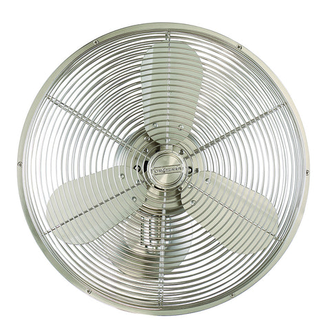 "Craftmade BW414BNK3 14"" Cage Wall Fan w/Adjustable Arm - Bellows IV in Stainless Steel"