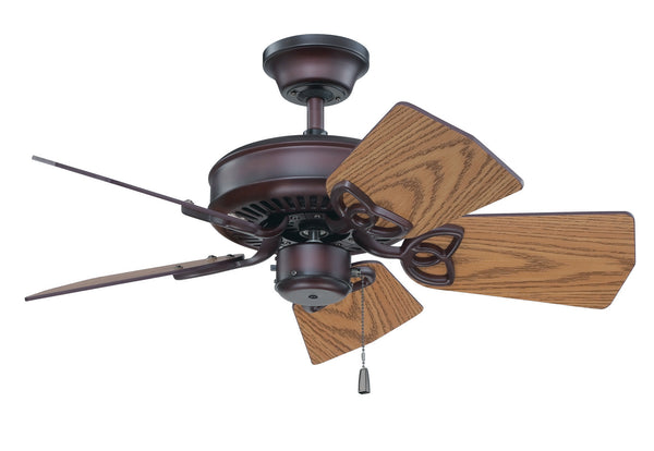 "Craftmade - K11243 - 30"" Ceiling Fan Motor with Blades Included - Piccolo - Oiled Bronze"
