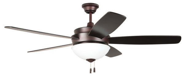 "Craftmade - LY52OB5-WG - 52"" Ceiling Fan w/Blades and Light Kit - Layton - Oiled Bronze"