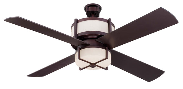 "Craftmade - MO56OB4-WG - 56"" Ceiling Fan w/Blades and Light Kit - Midoro - Oiled Bronze"