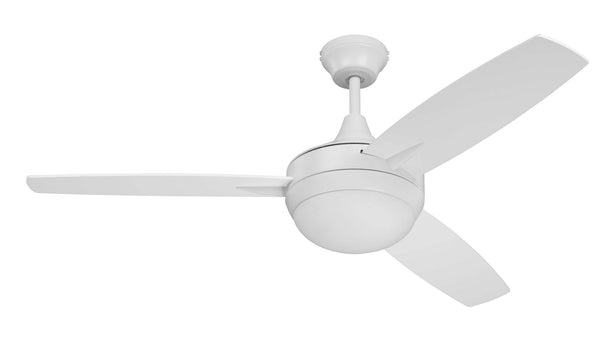 "Craftmade - TG48W3 - 48"" Ceiling Fan w/Blades and Light Kit - Targas - White"